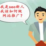 seo怎么优化?seo新人在刚接触seo优化的过程,如何做网站推广?