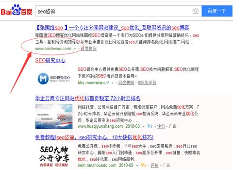 关键词排名seo案例